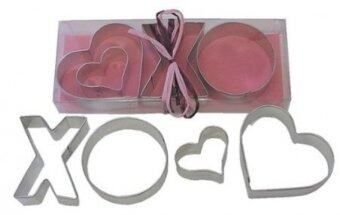 R & M Hugs And Kisses 3 Piece Cookie Cutter Set - intl