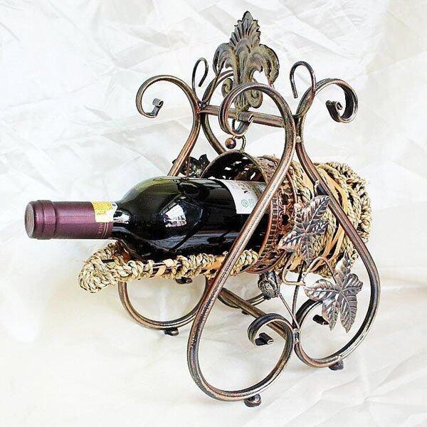 Retro Creative Iron Craft Bottle Rack Decorative Metal Wine Racks Holder Vintage Decorat ...