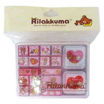 Rilakkuma Diary Decoration Stamp Set Pink