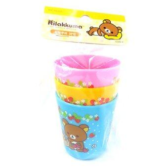 Rilakkuma Plastic Drinking Cup Set of 3