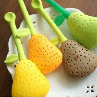 Silica Gel Pear Shape Tea Strainer - Intl