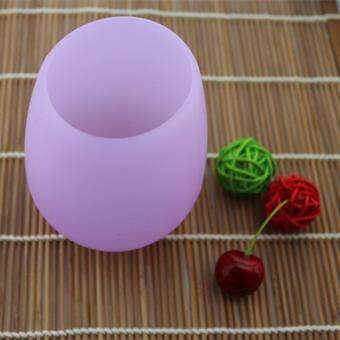 Silica gel red wine cup outdoor camping silica gel - intl