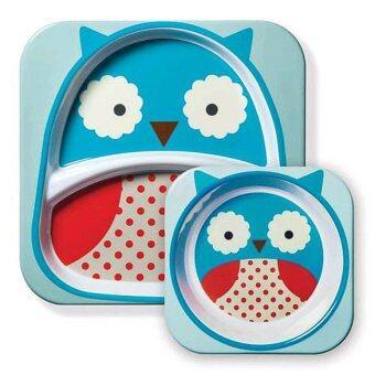 Skip Hop Zoo Tabletop Melamine Set - Owl - Intl