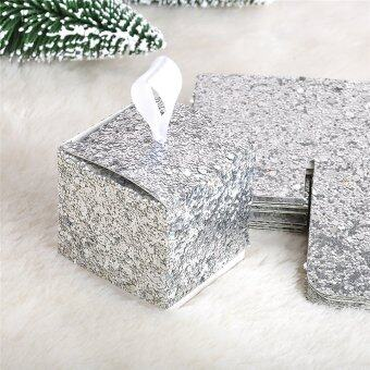 Sparkle Silver Glitter Favor Boxes Set of 12 Wedding Favors Party Gold - intl
