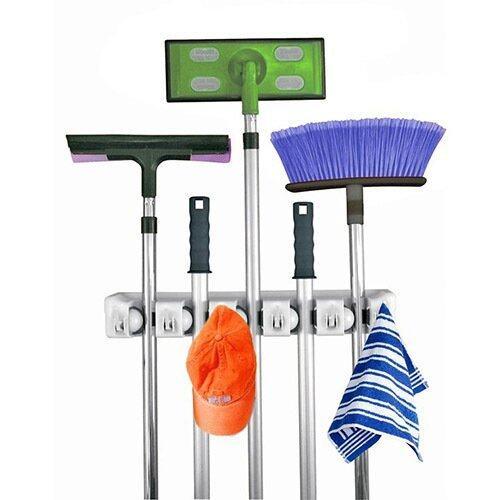 สินค้าแนะนำSpin Mop อุปกรณ์จัดเก็บไม้ถูพื้น ไม้กวาด อเนกประสงค์ แบบติดผนัง ไม่แพง