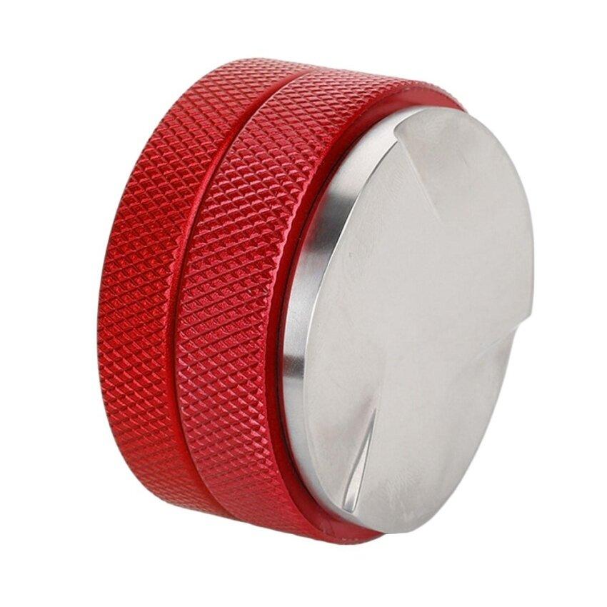 Stainless Steel Macaroon Shape Coffee Powder Blower Tamper Sands Coffee Fillers with Three-fan Bottom 58mm Diameter Red - intl