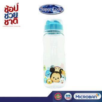 Super Lock ขวดน้ำ 1000 ml Disney Tsum Tsum สีแดง รุ่น 5295