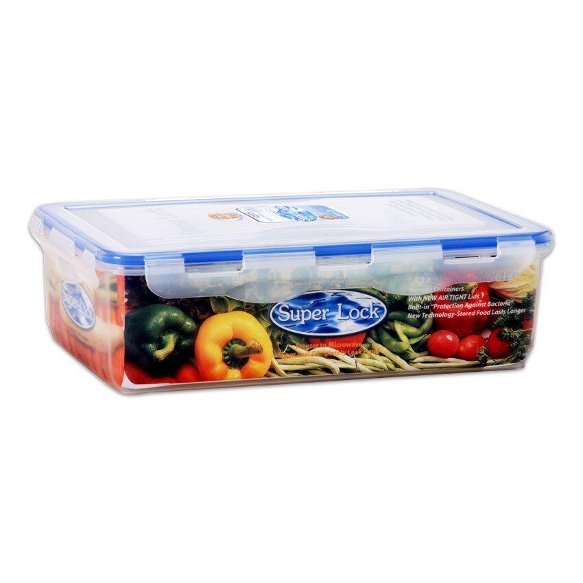 กล่องอาหาร Super Lock - 17.5 x 30 x 9 cm. 3000 ml.