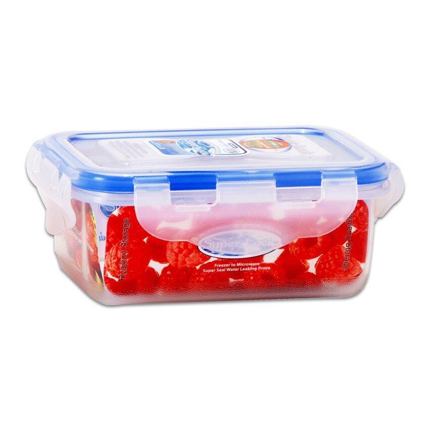 กล่องอาหาร Super Lock - 9.5 x 14 x 6 cm. 420 ml.
