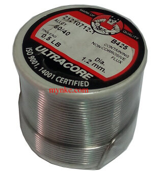 ตะกั่วเส้น 0.5LB Ultracore 60/40 ขนาด 1.2mm บัดกรี เชื่อม