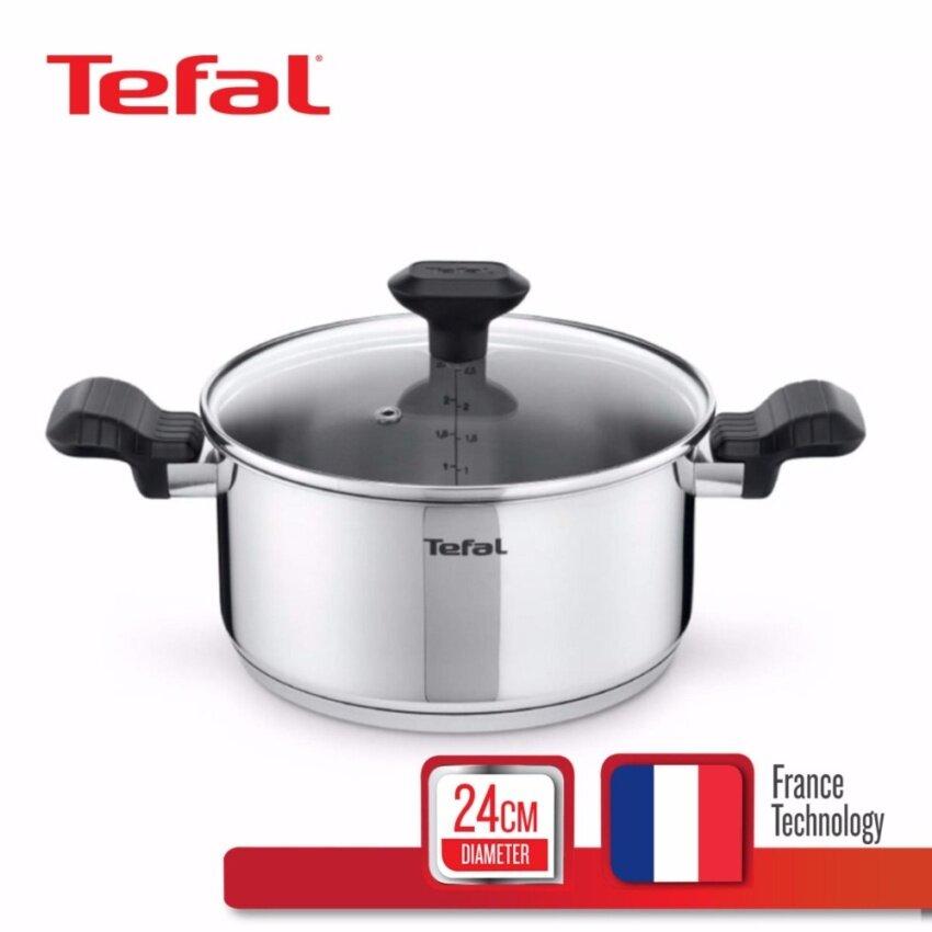 Tefal หม้อสตูว์ 24 ซม. รุ่น Comfort Max พร้อมฝาแก้ว C9734614