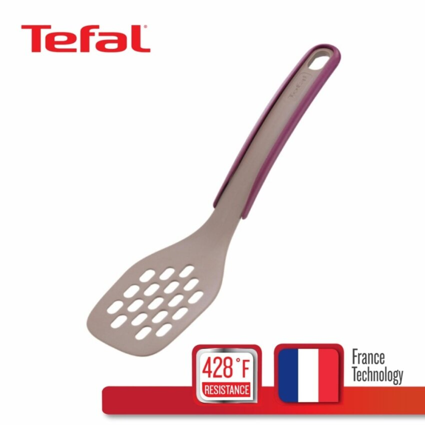 Tefal ตะหลิว candy brown Spatula with removable food tweezers K0260514