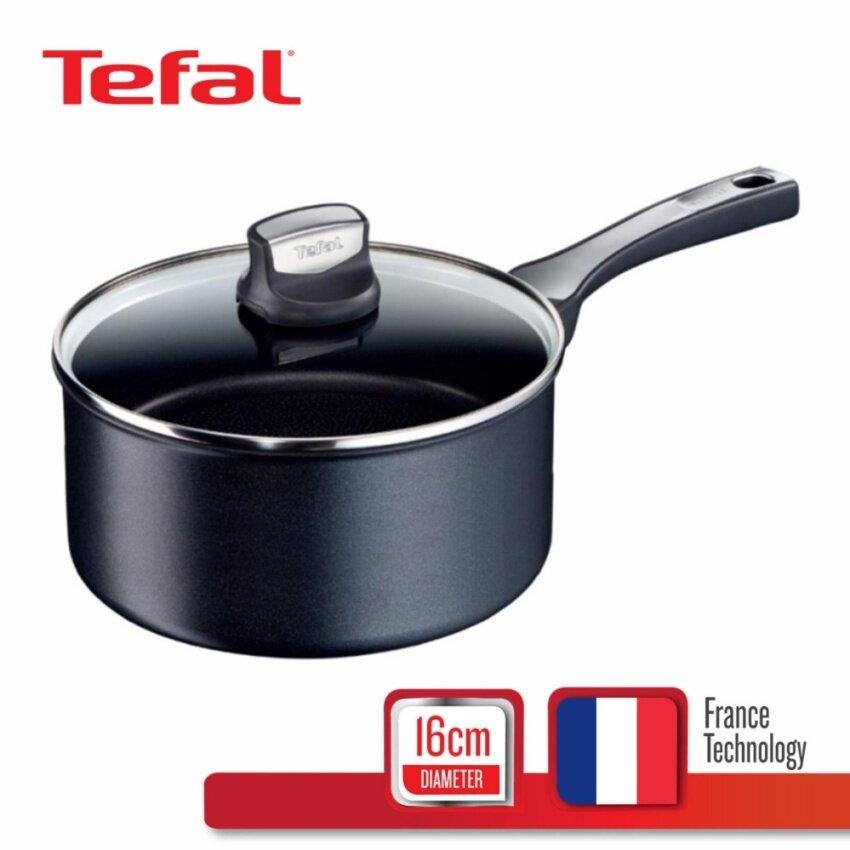 Tefal หม้อด้าม ก้นอินดัคชั่น พร้อมฝาแก้ว รุ่น Expertise 16 ซม. C6202272