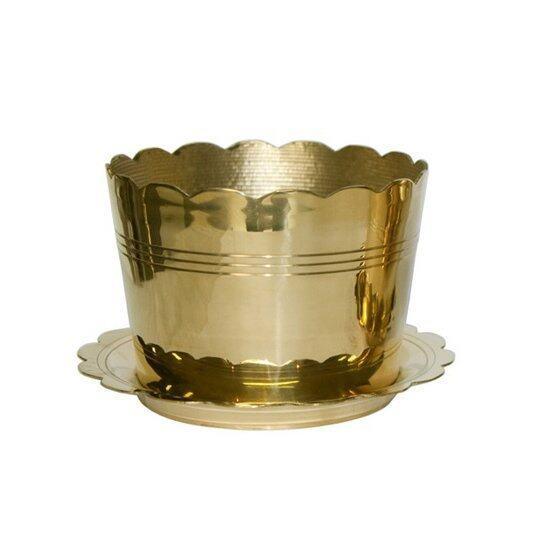 Thai Bronze กระถางธูปจานรองทองเหลืองขนาด 3 นิ้ว - สีทอง ...