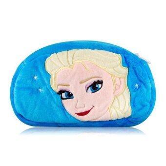 The Queen Anna Design Plush Bag with Zipper (Blue)