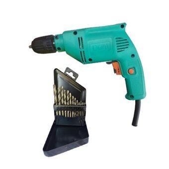 Tools Pro สว่านไฟฟ้า DCA รุ่น AJZ10A พร้อม ดอกสว่าน เจาะเหล็กไฮสปีด