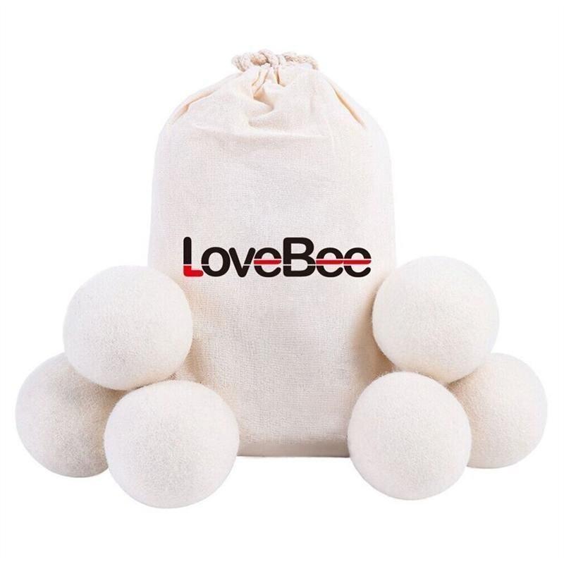 Wool Felt Laundry Dryer Balls All Natural Organic Fabric Softner (6 Pack) - intl ...