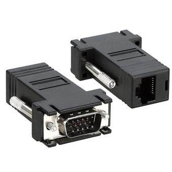 xudzhe VGA Male Video Extender to CAT5 CAT6 RJ45 Adapter,Black
