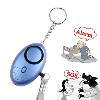 yesefus Personal Security Alarms Metal Mini 130db Emergency Alert Personal Security Alarms Keyring with LED Flashlight for Women Kids Girls Children Elderly Safety - intl