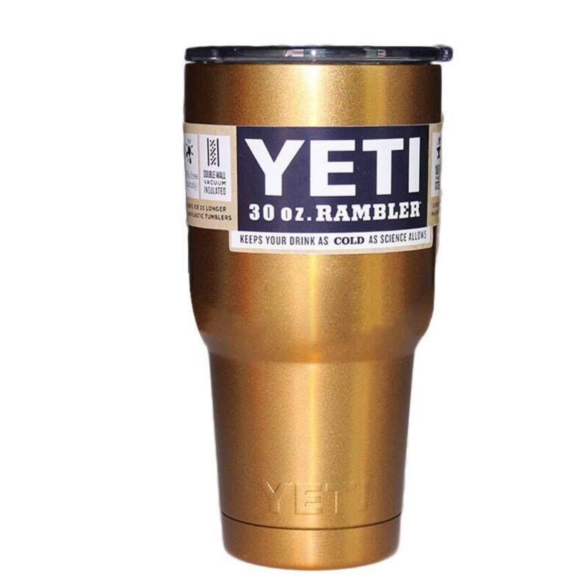 YETI Rambler แก้วเก็บความเย็น เก็บน้ำแข็งได้นาน 24ชั่วโมง ขนาด 30 ออนซ์ ...