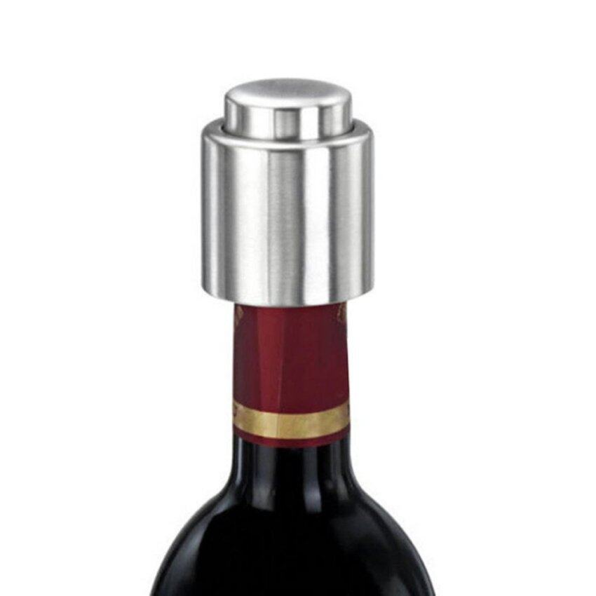 Yika Stainless Steel Vacuum Sealed Red Wine Storage Bottle Stopper Plug Bottle Cap - intl