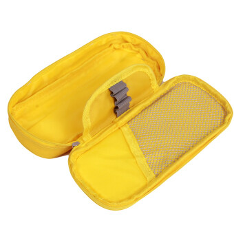 Yingwei Canvas Pencil Bag Pens Coin Pouch Yellow