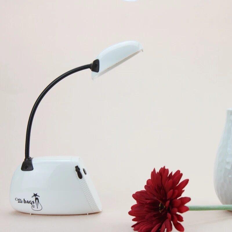 zt กระเป๋าแฟชั่นที่สร้างสรรค์การชาร์จไฟอ่านหนังสือ LED โคมไฟโคมไฟตั้งโต๊ะโคมไฟกระเป๋าเรียนของนักเรียน-white
