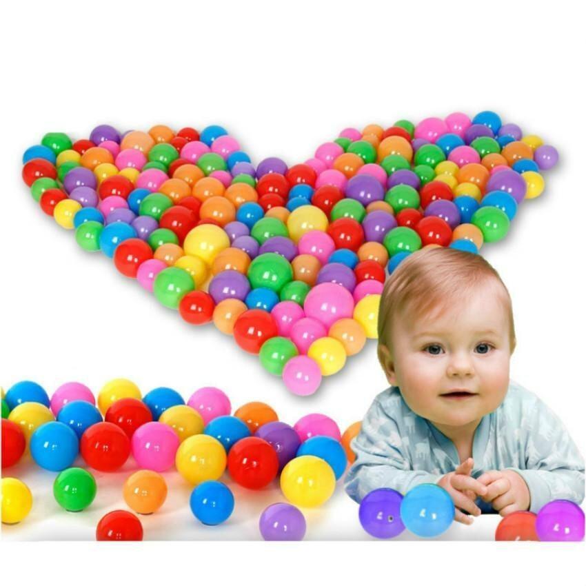 100Pcs/Bag Children Plastic Water Balloons Flat Balls Kids Swimming Pool Play Balls Bath Ball Pits Inflatable Stress Beach Ball-7CM - intl