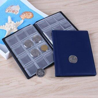 120 Coins Books Collection Storage Money Coin Money PocketCollecting Pockets-Blue - intl