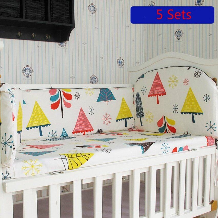 120*60CM Crib Bedding Sets Cotton Baby Bedding Sets Include Bumper Mattress Set - intl ...
