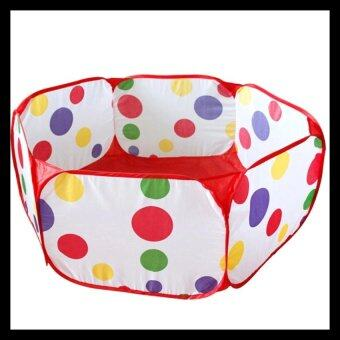 1.5M Kids Play Game Foldable Tent Pool Children Tent Polka Dot Ocean Ball Pool (Intl)