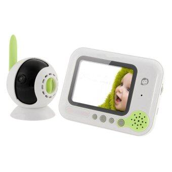 2.4G Wireless Baby Monitor 3.5-inch LCD Screen Wireless Baby Care Monitor Newborn Monitoring - INTL