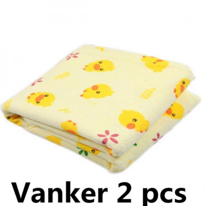 2X Infant Baby Home Travel Cute Cotton Waterproof Urine Padmat Cover Changing Pad - intl