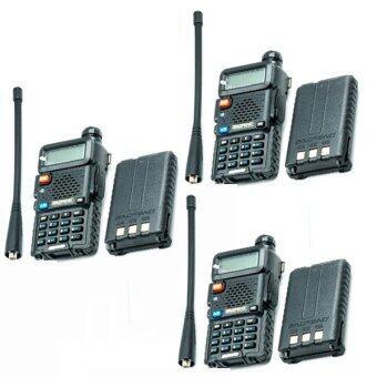 3x วิทยุสื่อสาร BaoFeng UV-5R 136-174/400-480 MHz