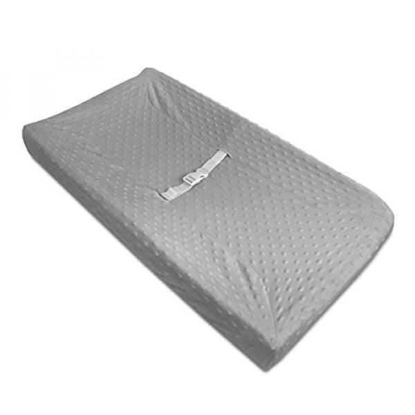 American Baby Company Heavenly Soft Minky Dot Fitted Contoured Changing Pad Cover, Gray Puff - intl