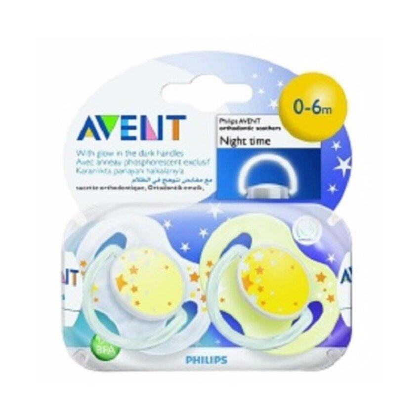 AVENT BPA Free Nighttime Infant Pacifier, 0-6 Months ...