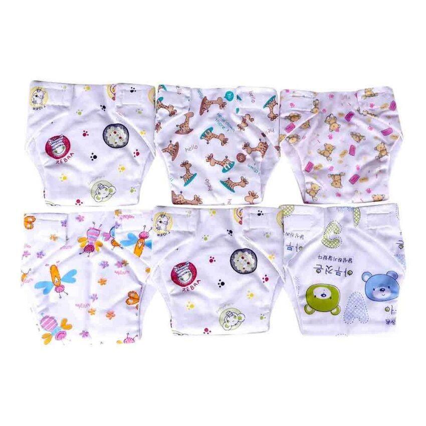 Baby heart กางเกงผ้าอ้อม รุ่นรวมลาย สำหรับเด็กแรกเกิด แพ็ค 6 ตัว