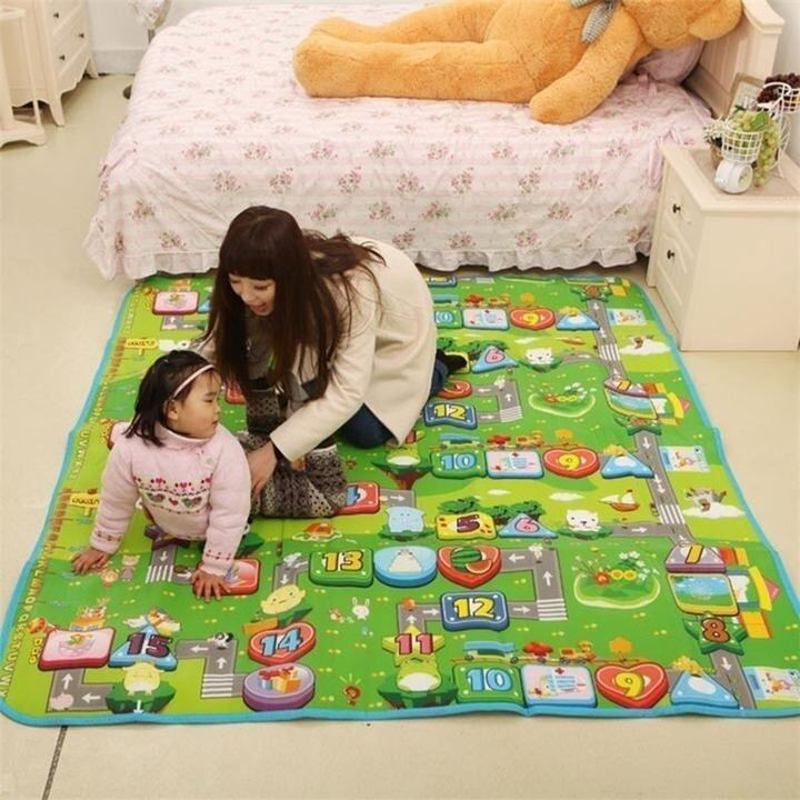 Baby Kid Toddler Crawl Play Game Mat Carpet Picnic Crawling Mat Waterproof - intl ...