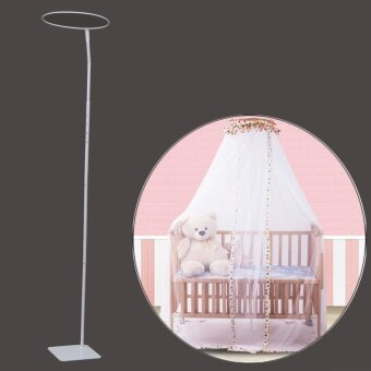 Baby Mosquito Net Holder Metal Steel Canopy Drape Stand Crib Cot Rod Accessory - intl