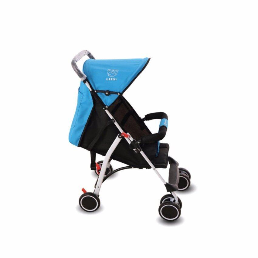 รถเข็นเด็ก baby soft 6 wheel สำหรับเด็ก 6 เดือน - 3 ขวบ รับน้ำหนัก 15kg - สีฟ้า ...