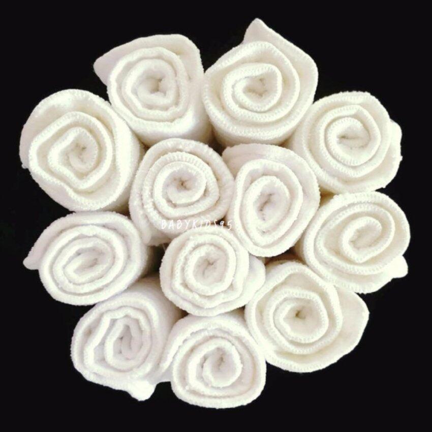 BABYKIDS95 แผ่นซับ ไมโครไฟเบอร์ หนา3ชั้น ขนาด 13.50*34 ซม. สีขาว สำหรับผ้าอ้อมเด็ก (แพ็ค ...