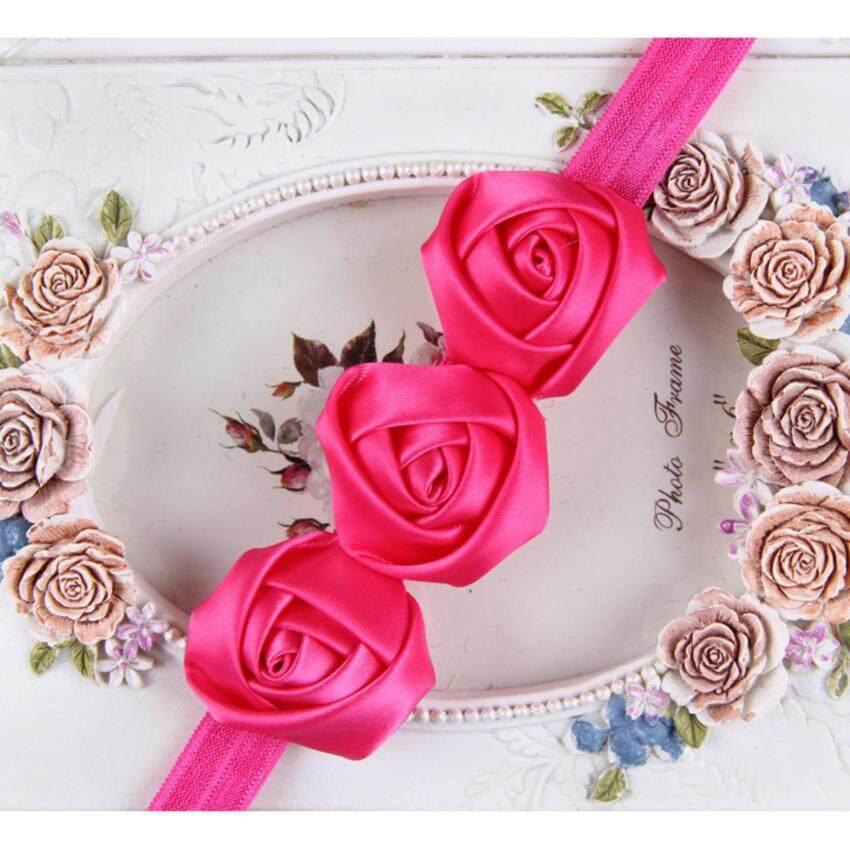 Bear Fashion Baby Girls Rose Flower Hair Band Toddler Headband Hairwear - intl ...