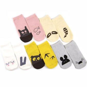 Cartoon Non-Slip Baby Cotton Socks Boys Girls Kid Toddler Newborn Rubber Soles S (Gray) - Intl