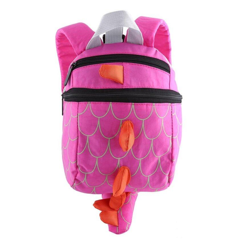 Child Back Pack Cute Dinosaur Animal Toddler Mini Security Strap School Bag(Rose Red) - intl