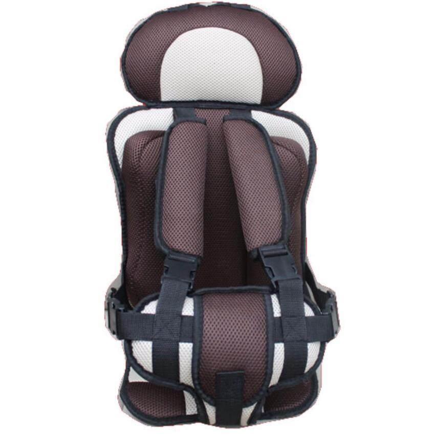 คาร์ซีทแบบพกพา (Child Car Seat) ที่นั่งในรถสำหรับเด็ก (สีครีม) ...