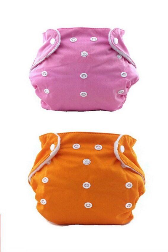 CSRV กางเกงผ้าอ้อม ซับฉี่ นาโน - สีชมพู/สีส้ม (แพ็คคู่) ...