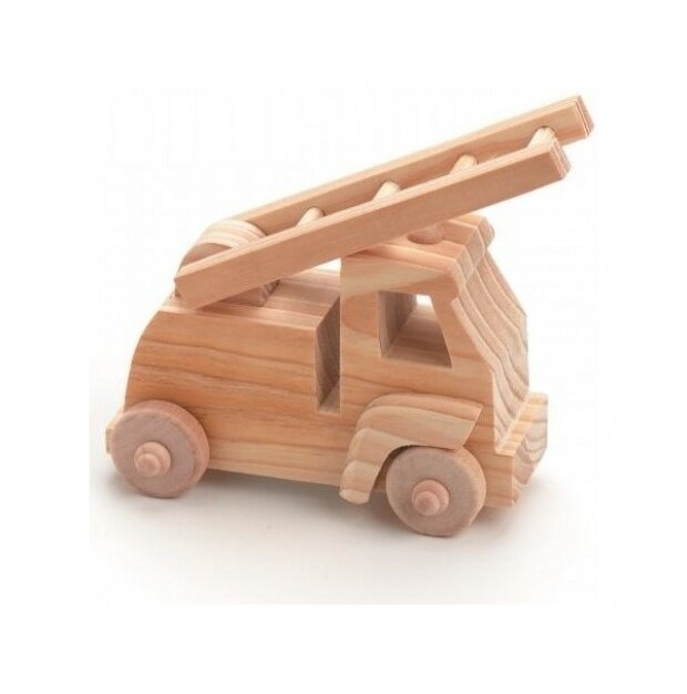 Darice 9163-50 Wood Toy Kit 10cm x 10cm 1-Pkg-Fire Truck - intl