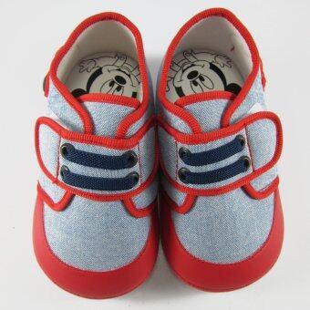 Disney Mickey Mouse รองเท้าผ้าใบ เด็กชาย มีเสียง ดิสนีย์ มิคกี้ เมาส์ สีฟ้า