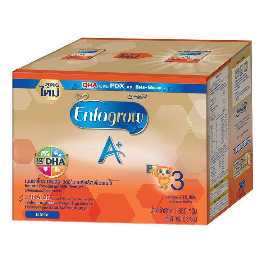 ขายยกลัง! Enfagrow A+ 3 Plain นมผงสำหรับเด็ก (1650gx4)