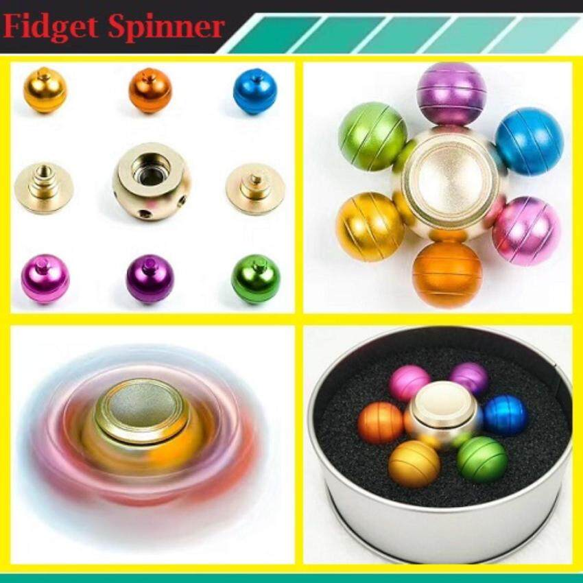 Fidget Spinner The new six dragon beads fingertips gyro aluminum alloy colorful gyro plug models